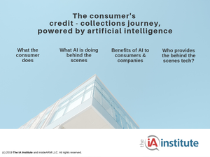 Cover for whitepaper, The Consumer's Credit-Collections Journey powered by Artificial Intelligence [Image by creator insideARM from ]