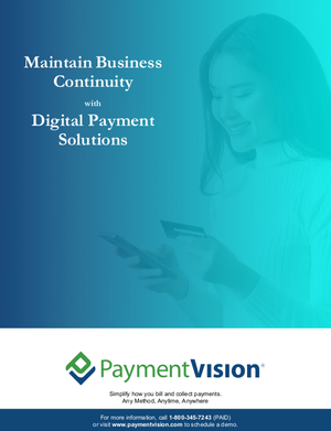 Digital Payment Solutions to Maintain Business Continuity April 2020 [Image by creator PaymentVision from insideARM]