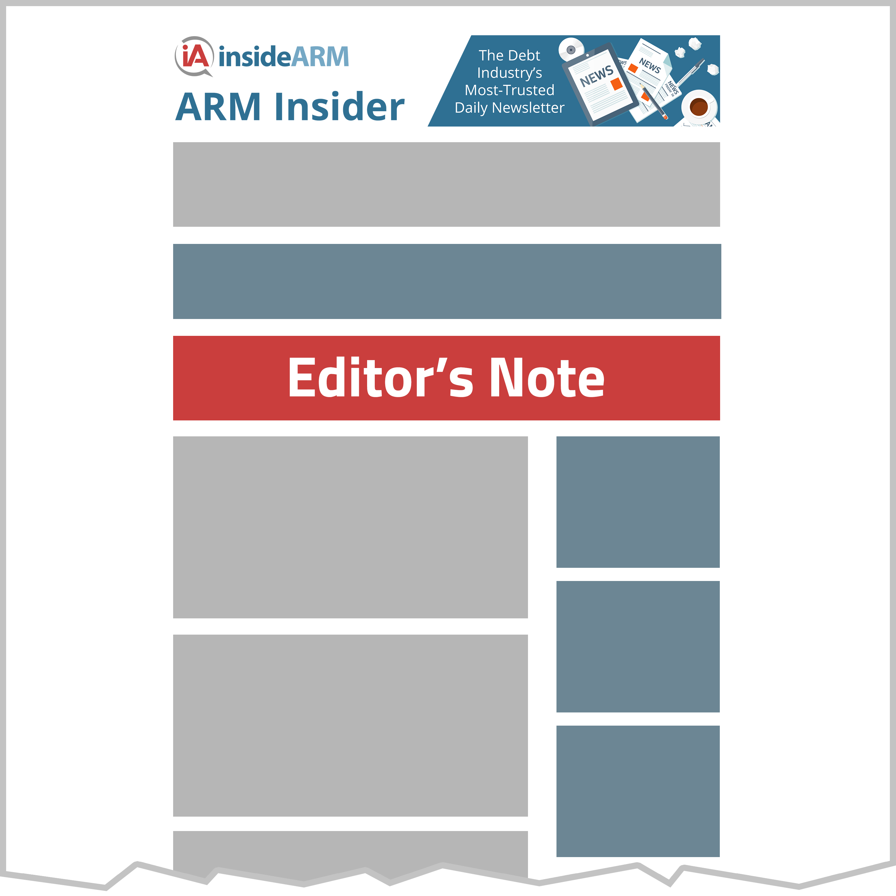 Diagram of editor's note placement
